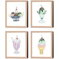 Framed Ice Cream Parlor 4 Piece Canvas Print Set