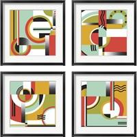 Framed Bauhaus  4 Piece Framed Art Print Set