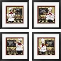 Framed Bistro Chef 4 Piece Framed Art Print Set