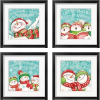 Framed Let it Snow 4 Piece Framed Art Print Set