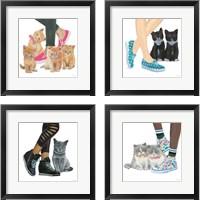 Framed Cutie Kitties 4 Piece Framed Art Print Set