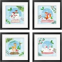 Framed Snow Globe Animals 4 Piece Framed Art Print Set