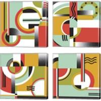Framed Bauhaus  4 Piece Canvas Print Set