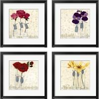 Framed Inspired Flower 4 Piece Framed Art Print Set