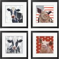 Framed Patriotic Farm 4 Piece Framed Art Print Set