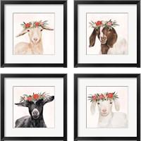 Framed Garden Goat 4 Piece Framed Art Print Set