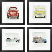 Framed Classic Autos 4 Piece Framed Art Print Set