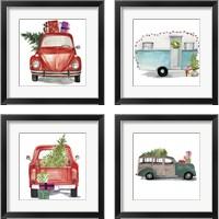 Framed Christmas Cars 4 Piece Framed Art Print Set