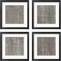 Framed Weathered Wood Patterns 4 Piece Framed Art Print Set