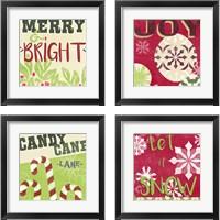 Framed Let's Get Jolly 4 Piece Framed Art Print Set