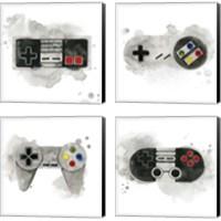 Framed Gamer  4 Piece Canvas Print Set