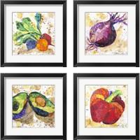 Framed Veggie Splash 4 Piece Framed Art Print Set