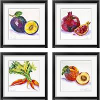 Framed Edibles  4 Piece Framed Art Print Set