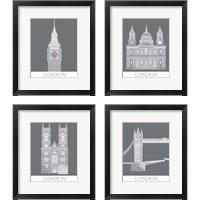 Framed London Landmark 4 Piece Framed Art Print Set