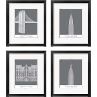 Framed New York Landmark 4 Piece Framed Art Print Set