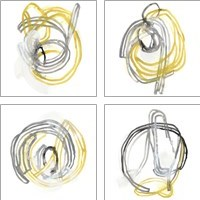 Framed String Orbit 4 Piece Art Print Set