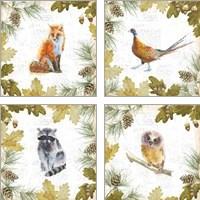 Framed Into the Woods 4 Piece Art Print Set