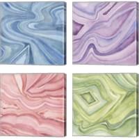Framed Pastel Agate 4 Piece Canvas Print Set