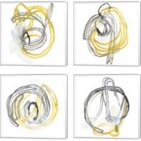 Framed String Orbit 4 Piece Canvas Print Set