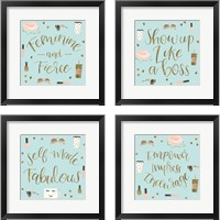 Framed Boss Ladies Mint 4 Piece Framed Art Print Set