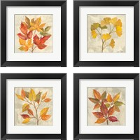 Framed November Leaves 4 Piece Framed Art Print Set