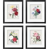 Framed Bouquet  4 Piece Framed Art Print Set