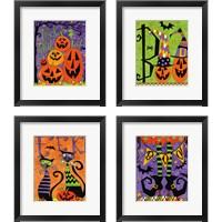 Framed Spooky Fun 4 Piece Framed Art Print Set