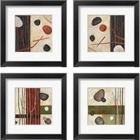 Framed Sticks and Stones 4 Piece Framed Art Print Set
