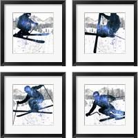 Framed Extreme Skier 4 Piece Framed Art Print Set