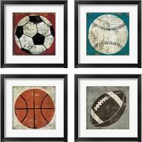 Framed Ball 4 Piece Framed Art Print Set