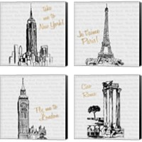 Framed Travel Pack 4 Piece Canvas Print Set