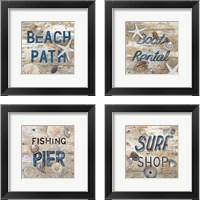 Framed Beach Path 4 Piece Framed Art Print Set