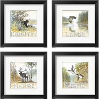 Framed Country 4 Piece Framed Art Print Set