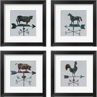 Framed Rural Relic Cow 4 Piece Framed Art Print Set