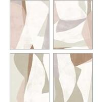 Framed Symphonic Shapes 4 Piece Art Print Set
