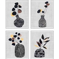 Framed Decorated Vase with Plant 4 Piece Art Print Set