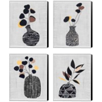 Framed Decorated Vase with Plant 4 Piece Canvas Print Set