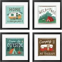 Framed Comfy Camping 4 Piece Framed Art Print Set