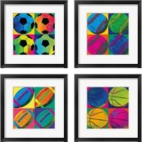 Framed Ball Four 4 Piece Framed Art Print Set