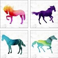 Framed Horse 4 Piece Art Print Set