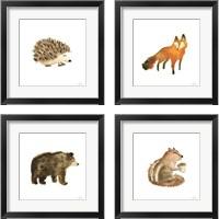 Framed Woodland Whimsy  4 Piece Framed Art Print Set