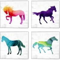 Framed Horse 4 Piece Canvas Print Set