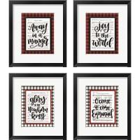 Framed Christmas Carol 4 Piece Framed Art Print Set