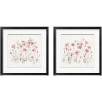 Framed Wildflowers Pink 2 Piece Framed Art Print Set