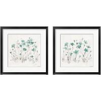Framed Wildflowers Turquoise 2 Piece Framed Art Print Set