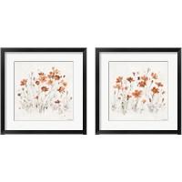 Framed Wildflowers Orange 2 Piece Framed Art Print Set