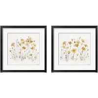 Framed Wildflowers Yellow 2 Piece Framed Art Print Set