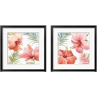 Framed Tropical Blush 2 Piece Framed Art Print Set