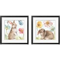 Framed Spring Softies Bunnies 2 Piece Framed Art Print Set