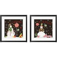 Framed Sweet Snowmen Black 2 Piece Framed Art Print Set
